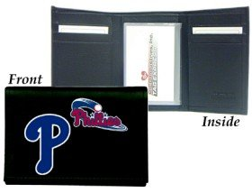 Philadelphia Phillies Embroidered Leather Tri-Fold Wallet