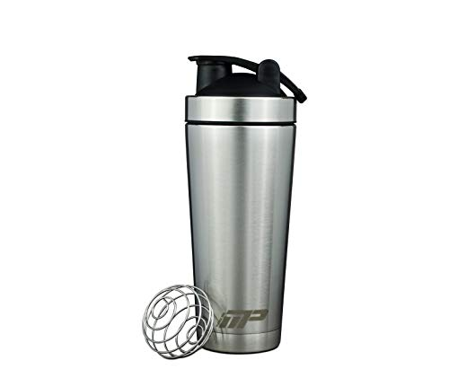 Muscle Pro Water Bottle, Vacuum Double Walled Protein Shaker Bottle, Stainless Steel Shaker Cup,Leak Proof, 20-Ounce