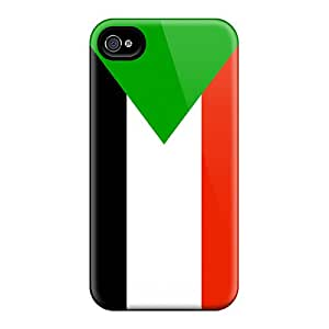 Special AMY KS Skin Case Cover For Iphone 4/4s, Popular Sudan Flag Phone Case