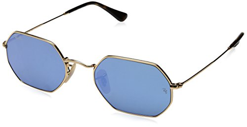 Ray-Ban Metal Unisex Oval Sunglasses, Gold, 53 - Ray Aviators Bans Vintage
