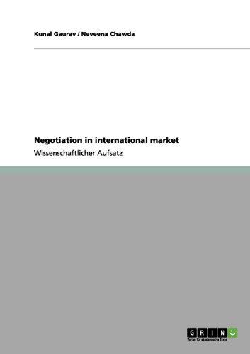 Negotiation in international market (German Edition)