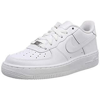 Nike Kids Air Force 1 (GS) White/White/White Basketball Shoe 6.5 Kids US