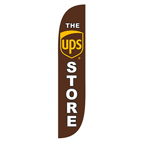 LookOurWay The UPS Store Feather Flag, 12-Feet by LookOurWay