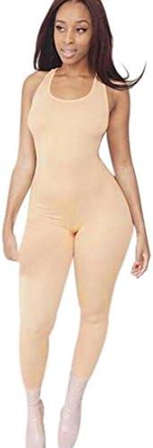 VEKDONE Women Spaghetti Strap Bodycon Romper Jumpsuit One Piece Bodysuit Playsuit Overalls Clubwear Gym Sportwear