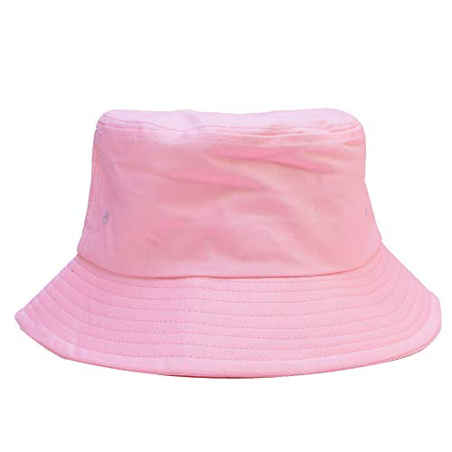 Sandy Ting Cotton Packable Fishing Hunting Sun Hats Travel Twill Bucket Cap Hat Pink]()