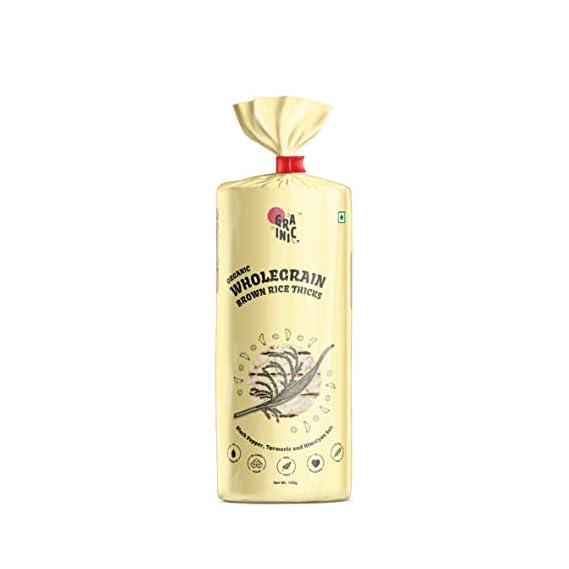 Grainic Organic Wholegrain Brown Rice Cakes (Turmeric, Black Pepper and Himalayan Salt) (Biggest Pack with 18 Cakes/Pack