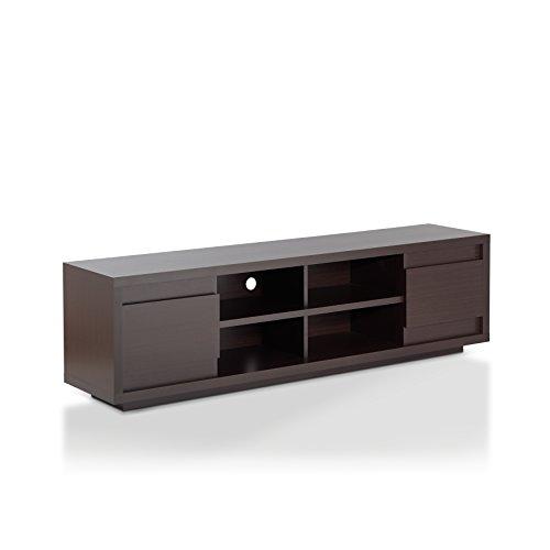 IoHOMES Kirry Multi Storage TV Stand, Walnut