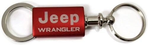 Au-Tomotive Gold, INC. Jeep Wrangler Red Valet Key Fob Authentic Logo Key Chain Key Ring Keytag Lanyard - Gold Logo Keychain