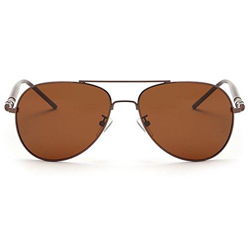 nbsp;– café nbsp;para estilo de de Full hombre Plateado plata Classic rnow Mirrored sol marrón militar Premium Aviator Gafas qBWwtTnE