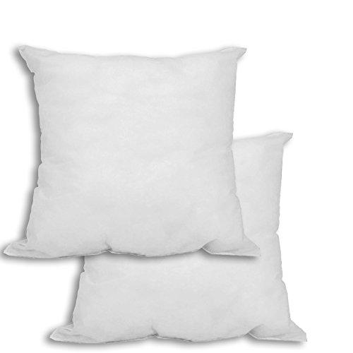 Mybecca - 2 Pack Hypoallergenic Premium Square Form Polyester Stuffer Pillow Insert Sham , 18