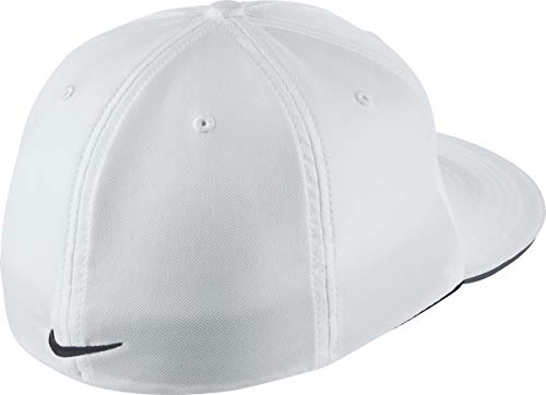 a8c7f14e86c Nike Golf True Statement Flat Bill Fitted Hat 727032 White