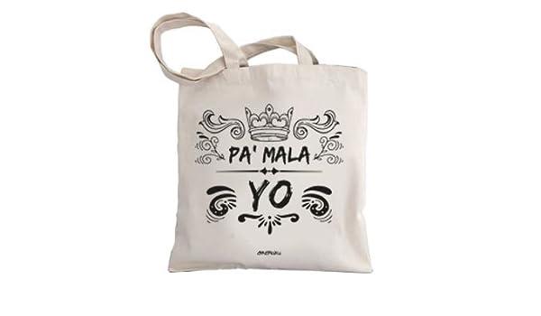 Okemaku Tote Bag Mensaje PA Mala YO - Bolsas de algodón ...