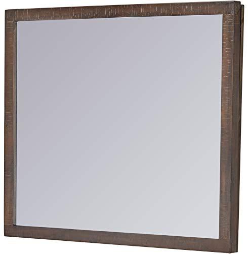 Bedroom Cambridge Laurel Storage 8-Drawer Dresser and Mirror Set in Rustic Brown, dresser