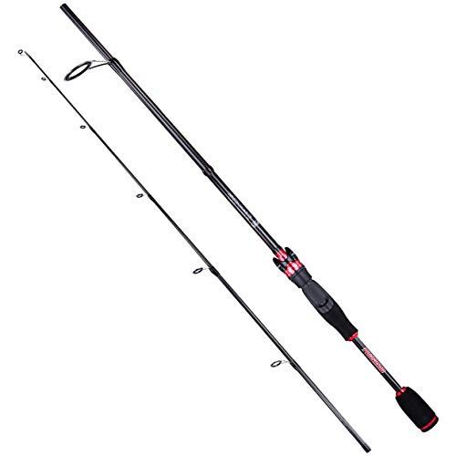 PLUSINNO 2pc Spinning Fishing Rod, Graphite Travel Medium Light Spinning Rods 6FT 7FT Freshwater Saltwater Fishing Rods