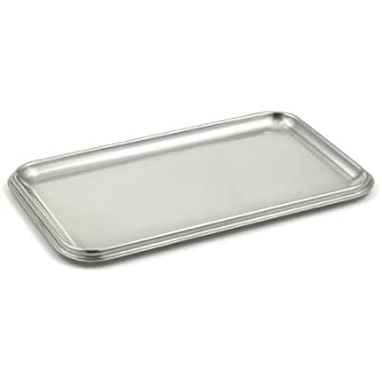 StainlessLUX 75110 Brilliant Stainless Steel Small Rectangle Tray - Quality Serveware for Your Home
