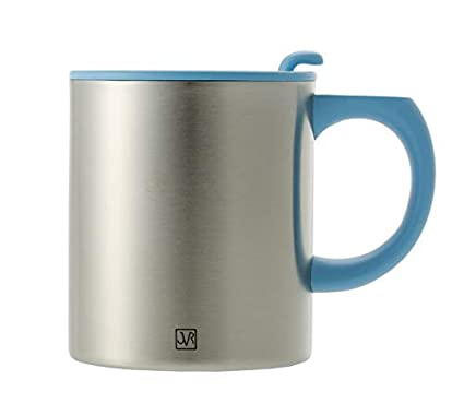 8054ce599df6 JVR Stainless Steel Vacuum Insulated Coffee Mug with Handle and Lid - 13-oz  Picnic