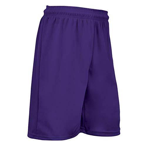 CHAMPRO Dri Gear All Sport Pantalones cortos de práctica de poliéster, pequeños, morados