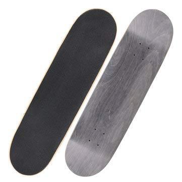 """1Pcs Blank Skateboard Decks Warning Skateboard Long Board Deck 31"""" X 8"""" - Outdoor Recreation Skateboarding - (Black) - 1Skateboard deck"""