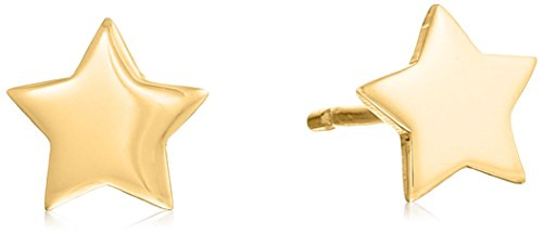 14k Italian Yellow Gold Star Stud (14k Star Earrings)