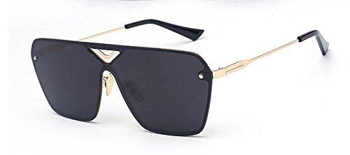 Film style B inspirées lunettes du Lennon cercle soleil rond retro en métallique vintage de Noir polarisées fqxwXZO