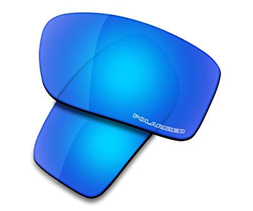 Saucer Premium Replacement Lenses for Oakley Double Edge Sunglasses High Defense - Glacier Blue Polarized