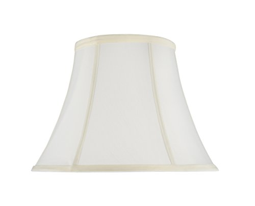 Aspen Creative 30216 Transitional Bell Shaped Spider Construction Lamp Shade in Off-White, 13