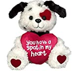 "Puppy Dog ""You Have A Spot In My Heart"" Plush Valentine's Day Stuffed Animal Gift"