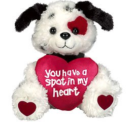 """Amazon.com: Puppy Dog """"You Have A Spot In My Heart"""" Plush"""