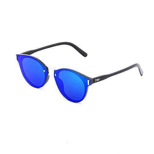 KANDINSKY Negro mujer hombre Gafas degradadas TWIG de espejo Azul sol qw1HP