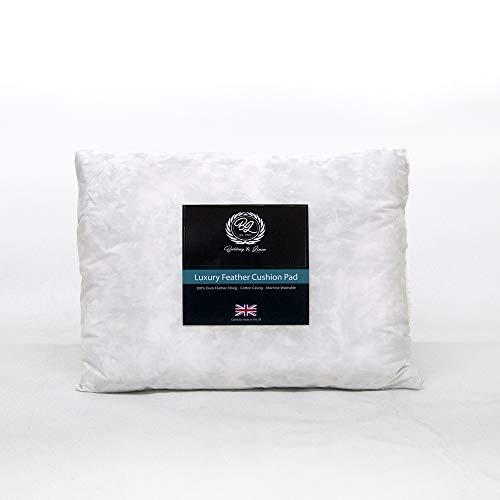 Luxury Rectangular Oblong Boudoir Duck Feather Cushion White Pad Insert Filler