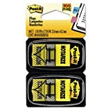 ** Arrow Message 1'' Flags, ''Notarize,'' Yellow, 2 50-Flag Dispensers/Pack