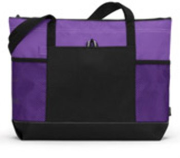 Gemline Select Zippered Tote - Purple (One) - Product Description - 1100 Gemline Select Zippered Tote : Purple (One) Zip Up Whatever You Need In This Handy Tote And Be On Your Way... It Even Has A Place For Your Pen! 600-Denier Polyester Zippere ... 600 Denier Polyester Tote