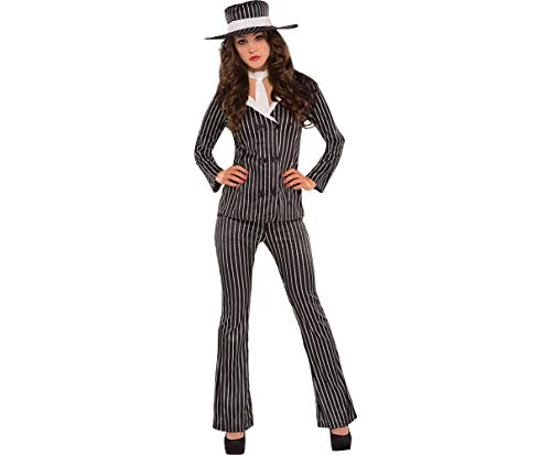 AMSCAN Mob Wife Halloween Costume for Women, Large, with Included Accessories -