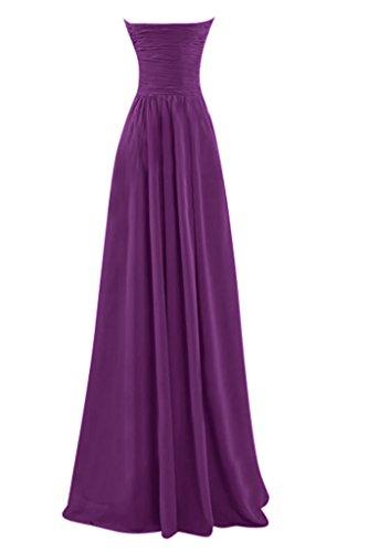 Rosa Chiffon Cocktailkleider Heimkehr Tanzenkleider Mia Rot Brautjungfernkleider La Farbe Einfach Lang Viel Partykleider qC7Wgx