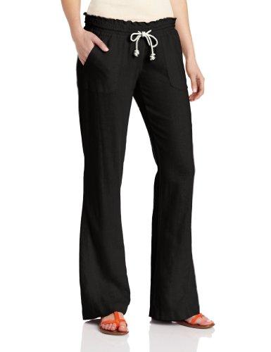 Roxy Juniors Ocean Side Beach Pant, True Black, Small