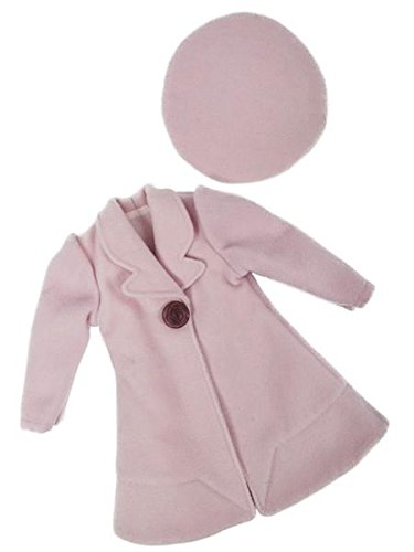 A Girl for All Time - Clementine's Pink Wool Coat and Beret Doll Costume and Accessories for 16 inch Dolls (Best Time For Clementines)