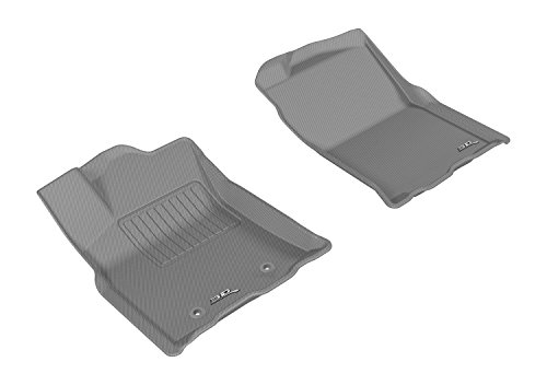 3D MAXpider L1TY19211501 Gray All-Weather Floor Mat for Select Toyota Tacoma Access Cab Models Front Row