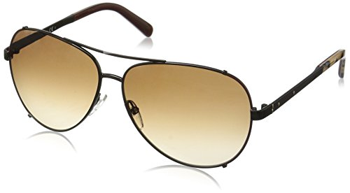 Bobbi Brown Women's the Truman Aviator Sunglasses, Brown Havana Honey/Warm Brown Gradient, 60 - Bobbi Sunglasses Brown