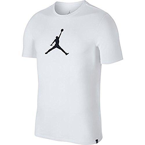 Jordan Mens Dry JMTC 23/7 Jumpman Basketball T-Shirt White/Black Size Small by NIKE