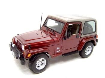 Amazon Com Jeep Wrangler Sahara Maroon Diecast Model 1 18 Die Cast