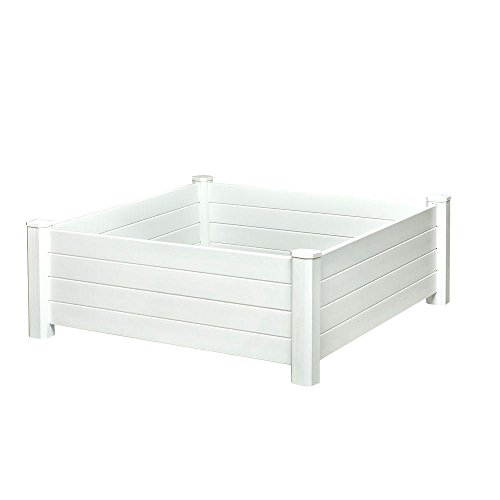 Nuvue Raised White Deluxe Garden Bed 48 in. x 48 in. x 15 in.