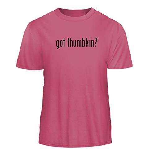 (Tracy Gifts got Thumbkin? - Nice Men's Short Sleeve T-Shirt, Pink, X-Large)