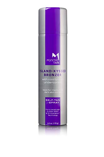 Mystic Tan Sunless Self-Tanning Airbrush Spray with Bronzer - Island-Kyssed, 6 Ounces (NEW PACKAGING)