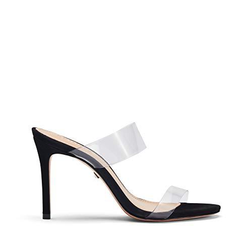SCHUTZ Women's Ariella Nubuck Dress Sandal Black ()