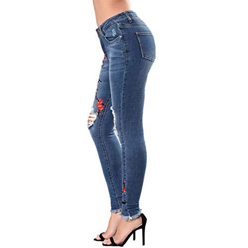 Jean Pantaloni Size K233 Blue Sexy Plus Ricamati Denim Ricamo Jeans Donna Da baibao Z Femme wUPAqEp