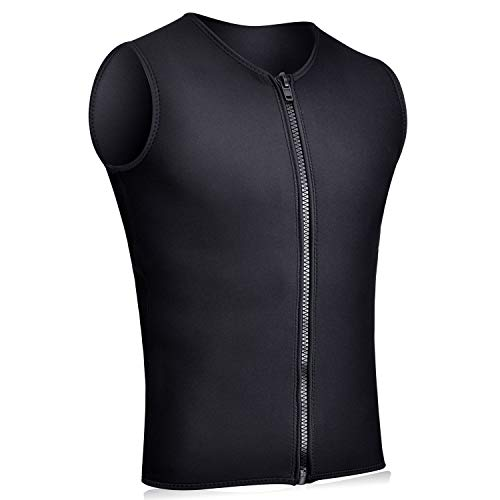 Realon Wetsuits Top Jacket Vest Mens Women 3mm Neoprene Long Sleeve/Sleeveless Shirt Front Zip Sports XSPAN for Scuba Diving Surf Swimming Snorkel Suit