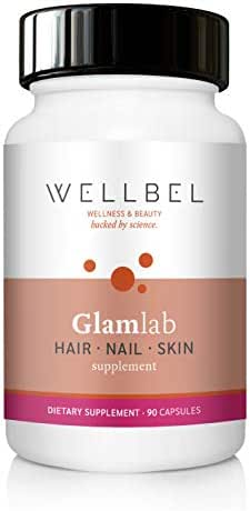 WellBel Hair Loss Thinning, Nail & Skin Supplement – 90 Capsules Vitamin – 500mcg Biotin, 325mg MSM, Vitamin A, B12, D, Folic Acid, Horsetail Extract, Saw Palmetto Extract, PABA, Selenium