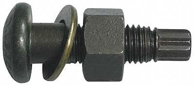 1-8 Steel Tension Control Bolt 100 PK Plain Finish 4-1//4L