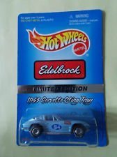 - Hot Wheels - Edelbrock - Limited Edition - 1963 Corvette Sting Ray (#614) - 1:64 Scale Collector Car Replica - Light Blue Body Color