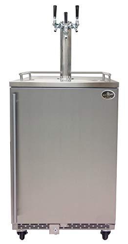 (Beer Meister Dual Tower with Stainless Door kegerator - Premium Series)